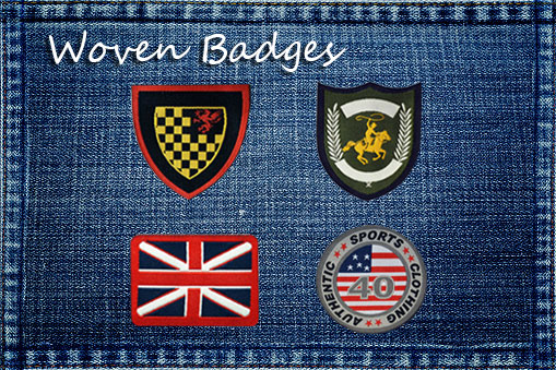 woven badges, woven patches, iron on patches, iron on badges, woven emblems, woven applique, fusing fabric patches, iron on woven patches for fabric textiles clothing garment dress jeans tshirts etc