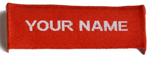 Sew On Woven Name Labels