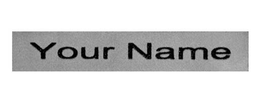 Grey Iron On Name Labels